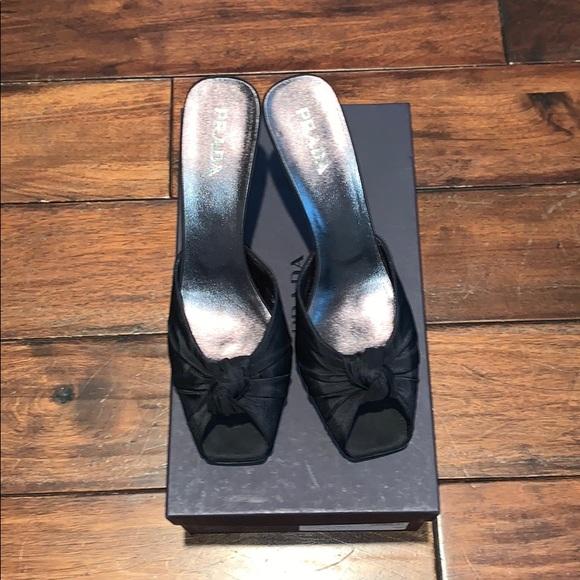 Prada Shoes   Vintage Prada Faille Knot